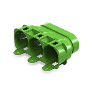 Adaptateur 3x63 conduit oval