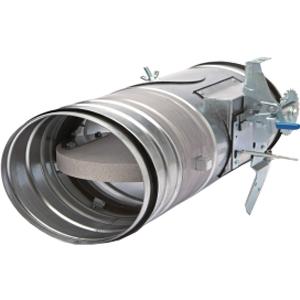 Clapet coupe feu EI120S circulaire avec mécanisme manuel apparent Ø 160 mm