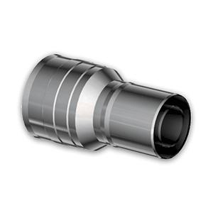 Adaptator 60/105 M-M tot 80/125 F-M TWIN BIOMASS RVS