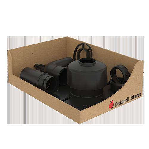 Montage kit voor flexibel PPS(Korte eindstuk - zonder flexibel)