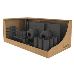 Pack de 5 kits de montage pour flexible PPS Ø80 - Terminal court
