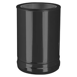 Connexion double à simple noire DW ECO Noir Ø 150 mm