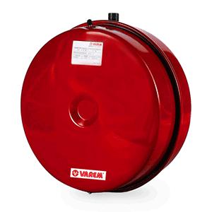 Vase d'expansion chauffage plat flatvarem LR p Ø385 12L