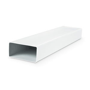 Tube rectangulaire en PVC - L=1,5 m - Finition blanche - 60x204 mm