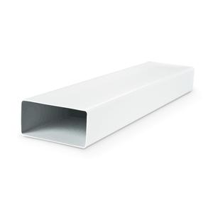 Tube rectangulaire en PVC - L=1,5 m - Finition blanche - 60x204 mm