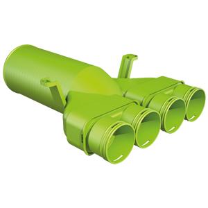Connecteur droit de raccordement pour Bouche Ø125 mm pour flexible circulaire 63/52 mm