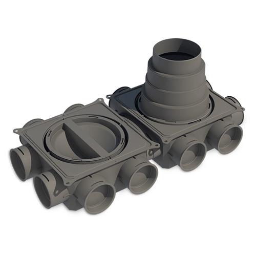 Caisson de répartition Small DBOX circulaire horizontal à 12 connexions - Ø 75 mm