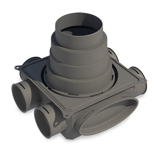 Caisson de répartition Small DBOX circulaire à 6 connexions - Ø 75 mm