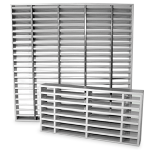 Grille coupe-feu VISION EI90 - 350X200 mm