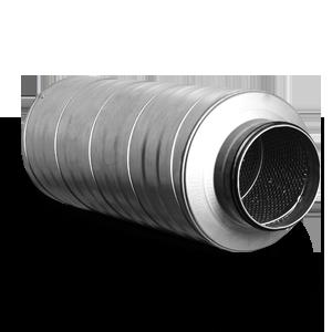 Silencieux circulaire - L 900 mm Ø 150 mm