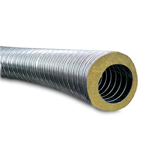 Geïsoleerd flexibel 316 10/100 - 8 m Rol ISOFLEX Ø150 mm
