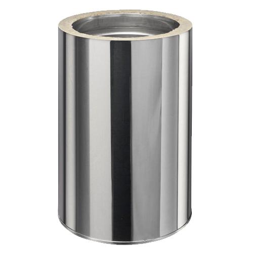 Tube droit rigide Inox simple paroi ø 80mm L1000 mm